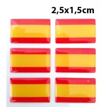 6 pegatinas relieve bandera España. Modelo 142