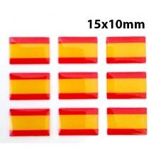 9 pegatinas relieve bandera España. Modelo 143