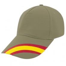 Gorra bandera España kaki. Modelo 80