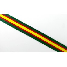 Cinta Bandera España verde. Rollo 25m
