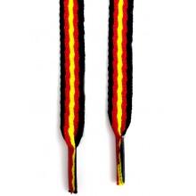 Cordones bandera España negro. Modelo 003