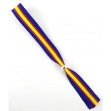 Pulsera cinta bandera España azul. Modelo 261