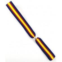 Pulsera cinta bandera España azul marino. Modelo 262