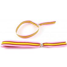 Pulsera cinta bandera España rosa. Modelo 263