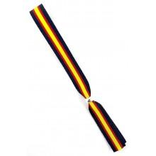 Pulsera cinta bandera España negro. Modelo 265