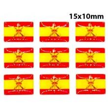 Camiseta técnica gris con bandera España. Modelo 507
