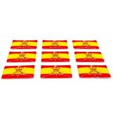 9 pegatinas relieve bandera España Legión. Modelo 146