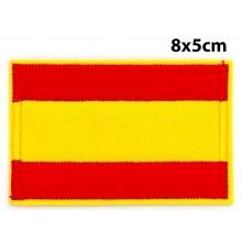 Parche bordado bandera España sin escudo. Modelo 036