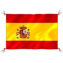 Bandera España con escudo para balcón. 130x90cm