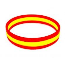 Pulsera silicona bandera España. Pequeña. Modelo 174