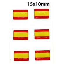 Set 6 pegatinas relieve bandera España