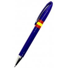 Bolígrafo bandera España. Modelo 012 azul