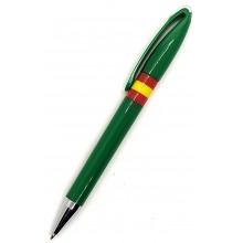 Bolígrafo bandera España. Modelo 014 verde oscuro