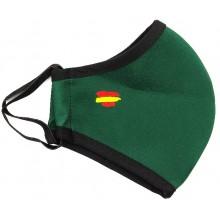 Mascarilla bandera España neopreno verde. Modelo 022
