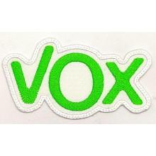 Parche bordado VOX. Modelo 096