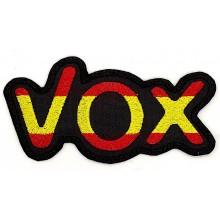 Parche bordado VOX bandera España. Modelo 097