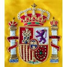 Bandera España sobremesa 30x20cm bordada a mano