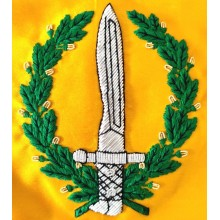 Bandera España COE bordada a mano para mesa