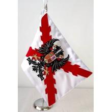Bandera Tercios Españoles bordada a mano para mesa