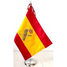Bandera España Guardia Civil bordada a mano para mesa