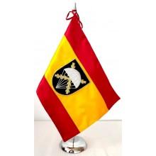 Bandera España BRIPAC bordada a mano para mesa