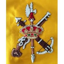 Bandera España Legión bordada a mano para mesa