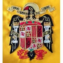 Bandera España Águila San Juan bordada a mano para mesa