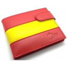 Cartera piel bandera España. Modelo 070-C