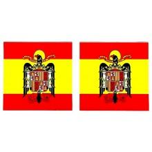 2 pegatinas bandera España Águila San Juan