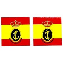 2 pegatinas bandera España Armada Española