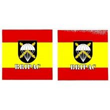 2 pegatinas bandera España BRIPAC