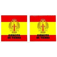 2 pegatinas bandera España Ejército de Tierra