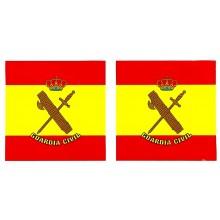 2 pegatinas bandera España Guardia Civil