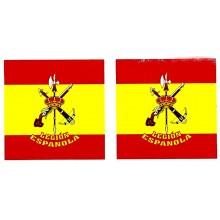 2 pegatinas bandera España Legión Española
