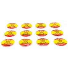 12 Pegatinas bandera España Legión. Modelo 113