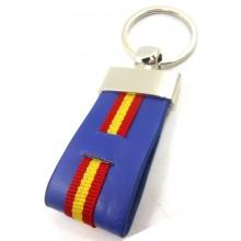 Llavero bandera España azul. Modelo 451