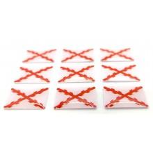 9 pegatinas relieve Cruz de Borgoña. Modelo 157