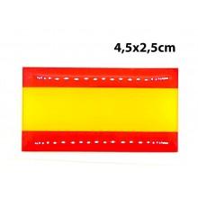 Pegatina relieve bandera España 4,5x2,5cm. Modelo 158