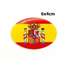 Pegatina bandera España 6x4cm. Modelo 164
