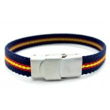 Pulsera bandera España elástica marino. Modelo 276