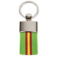 Llavero lona verde bandera España. Modelo 654