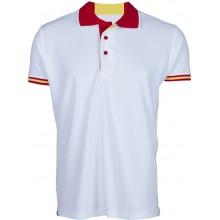 Polo infantil bandera España blanco. Modelo 119