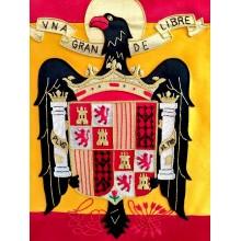 Estandarte Águila de San Juan bordado a mano lujo tamaño grande