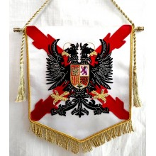 Estandarte Tercios Españoles bordado a mano lujo tamaño pequeño