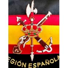 Estandarte Legión Española bordado a mano lujo tamaño pequeño