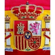 Estandarte España bordado a mano lujo tamaño pequeño