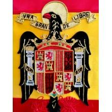 Estandarte Águila de San Juan bordado a mano lujo tamaño pequeño