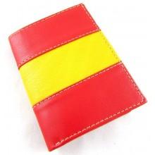 Cartera piel bandera España. Modelo 101-3
