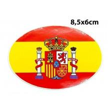 Pegatina bandera España 8,5x6cm. Modelo 165