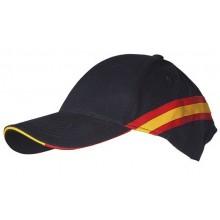 Gorra bandera España negra. Modelo 056